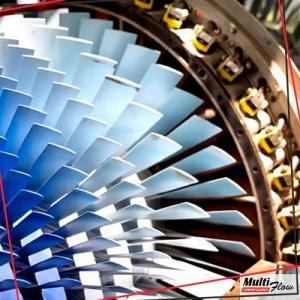 Conserto de turbina a gas
